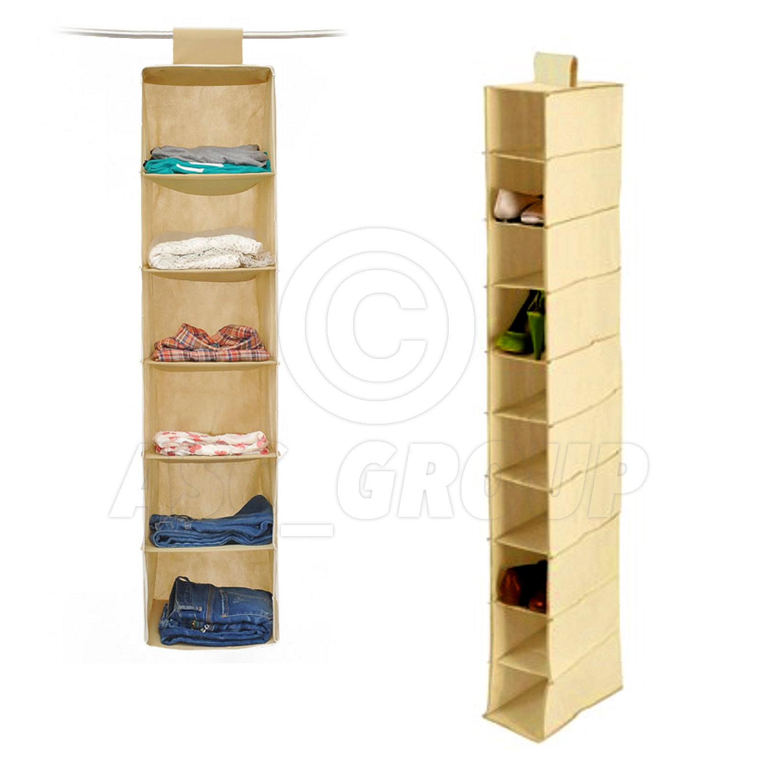 Wardrobe / Closet Tidy Clothes Shoes Footware Hanging Organiser Multiple Sizes