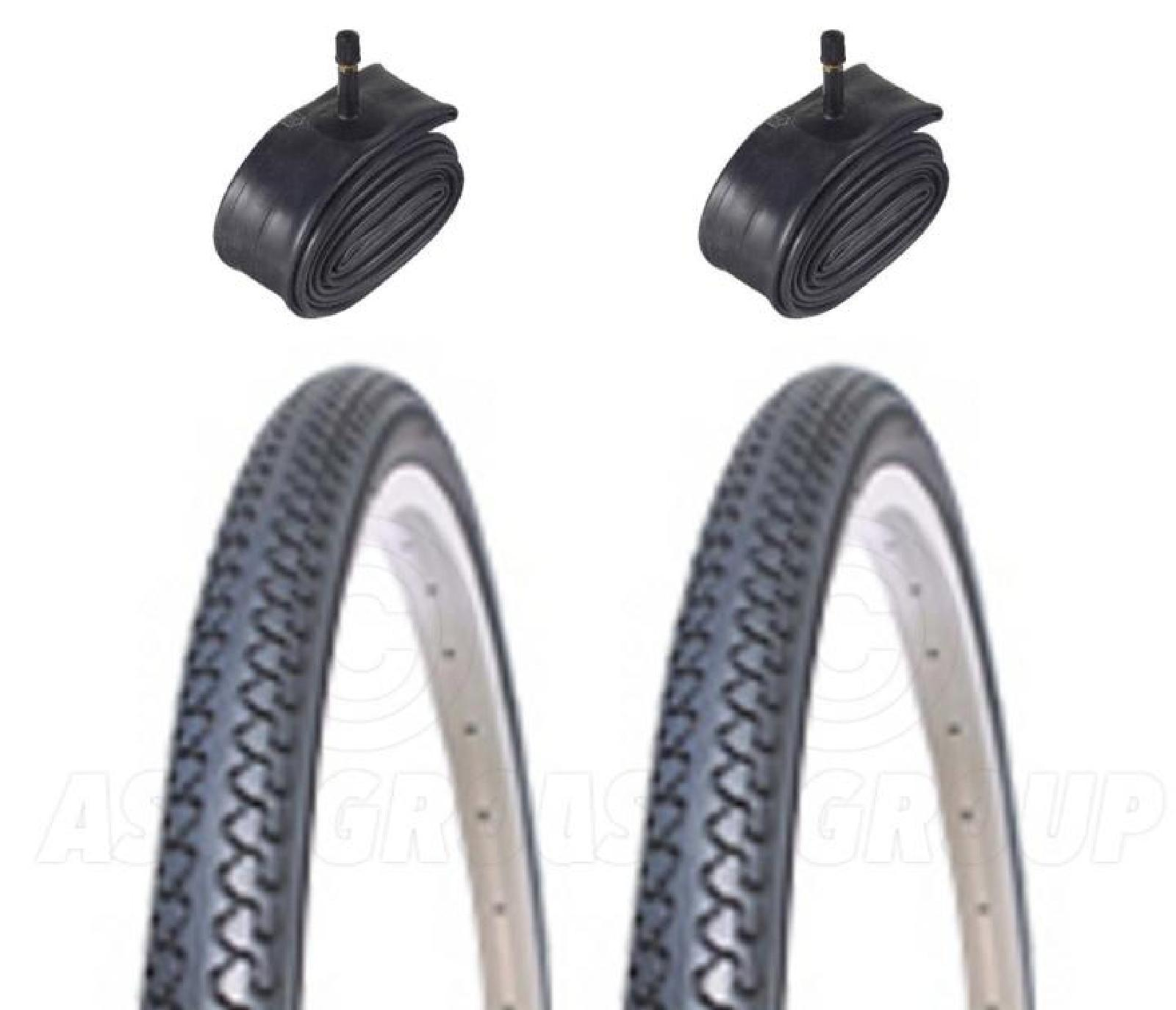 2 Bicycle Tyres Bike Tires - City / Town - 26 x 1 3/8 - With Schrader Tubes