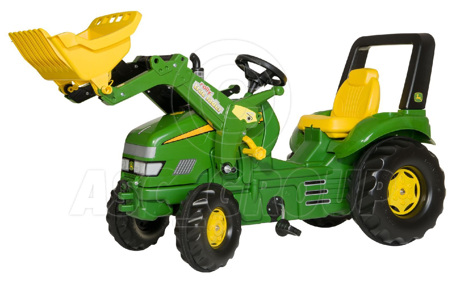 Metal Pedal Tractor Loader : Rolly toys trac john deere xl ride on pedal tractor