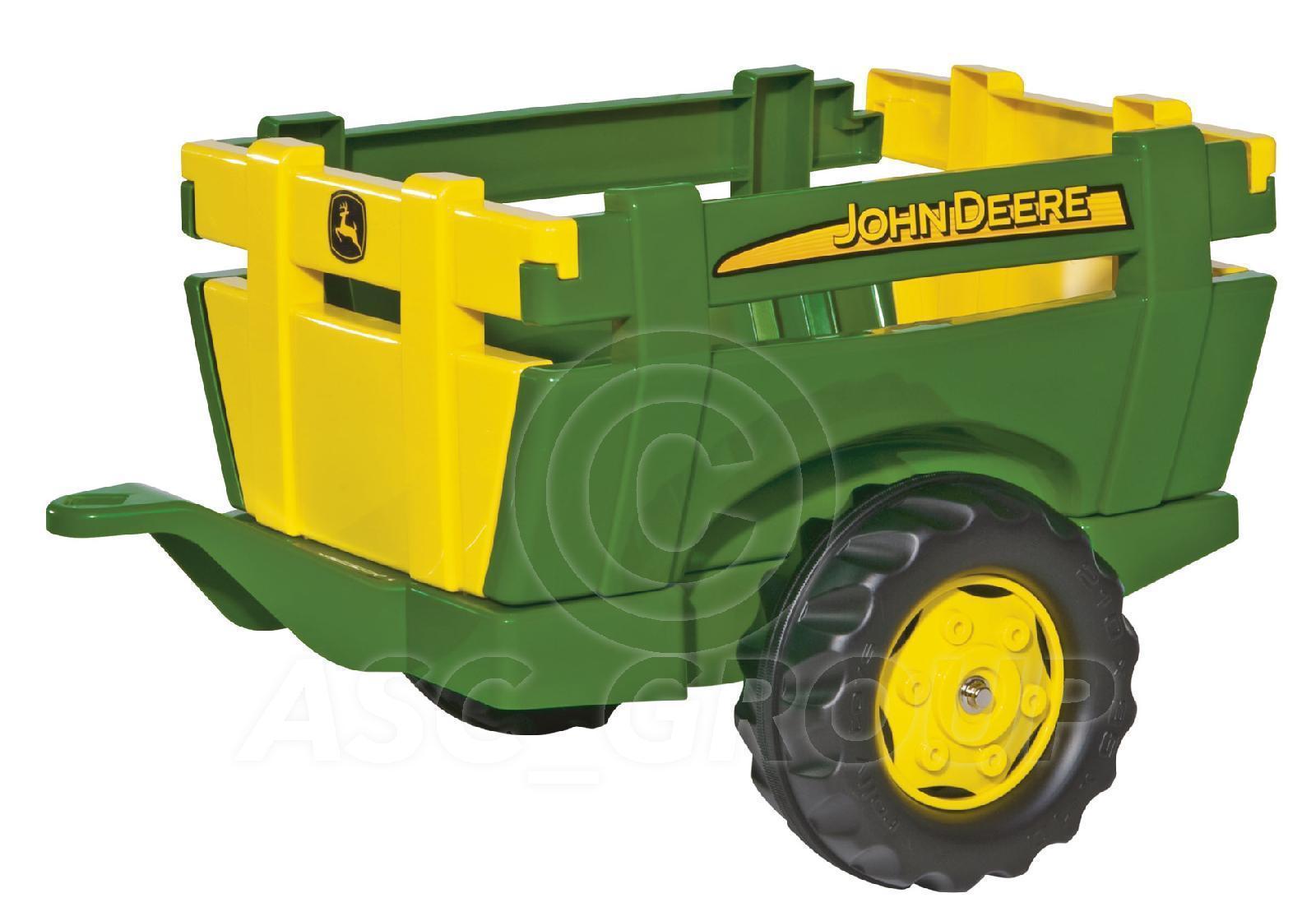 John Deere Trailor : Rolly toys john deere green farm trailer slat design for