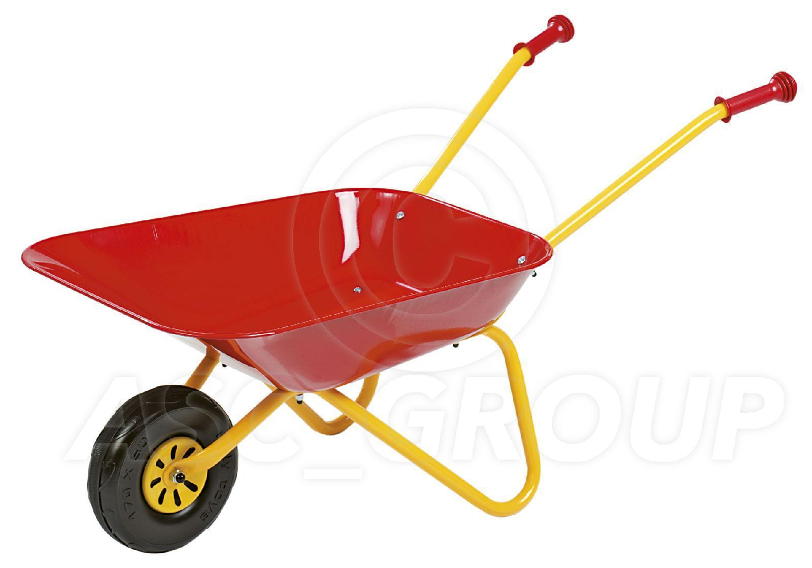 rolly toys metal play wheel barrow wheelbarrow red yellow age 2 1 2 plus ebay. Black Bedroom Furniture Sets. Home Design Ideas