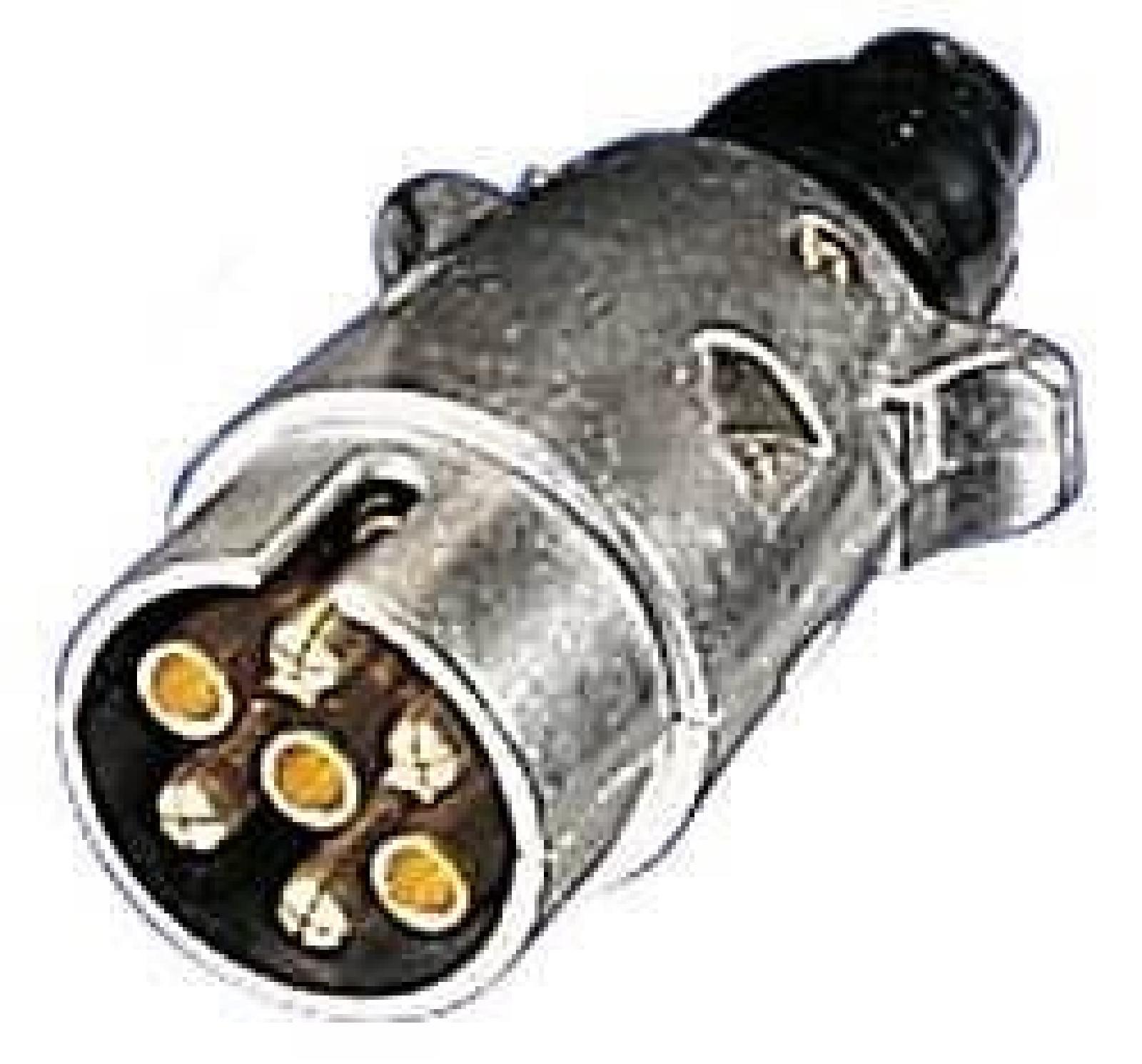 7 Pin Trailer Caravan Towing Wire Lighting Plug  Metal