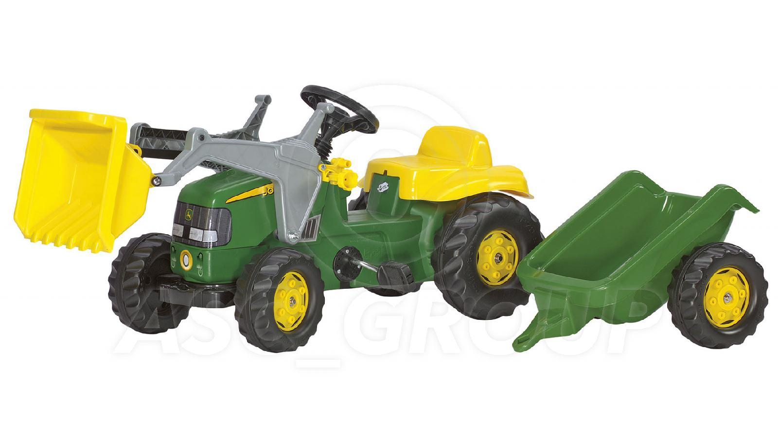 John Deere Trailor : Rolly toys john deere ride on pedal tractor with loader