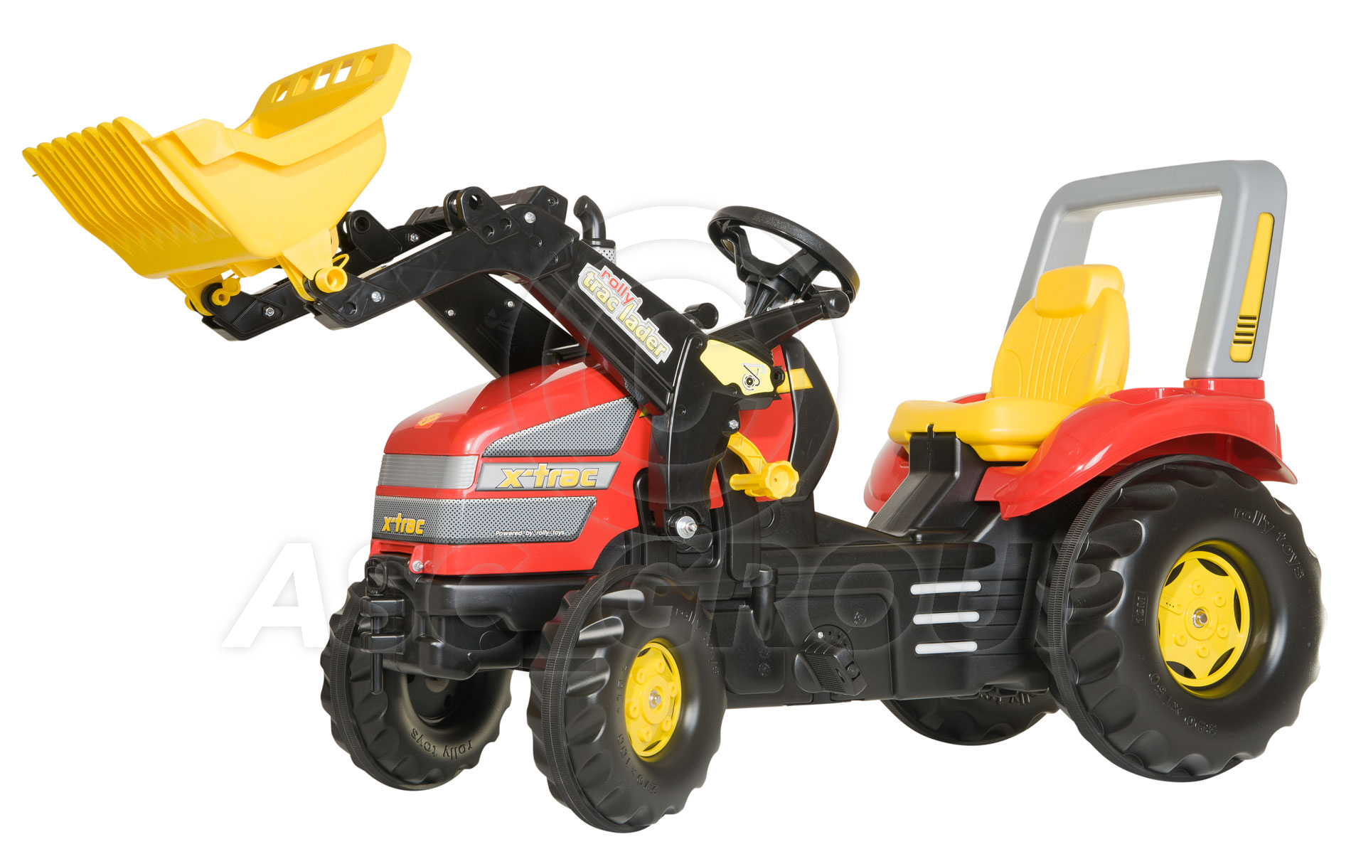 Metal Pedal Tractor Loader : Rolly toys trac red king size ride on pedal tractor