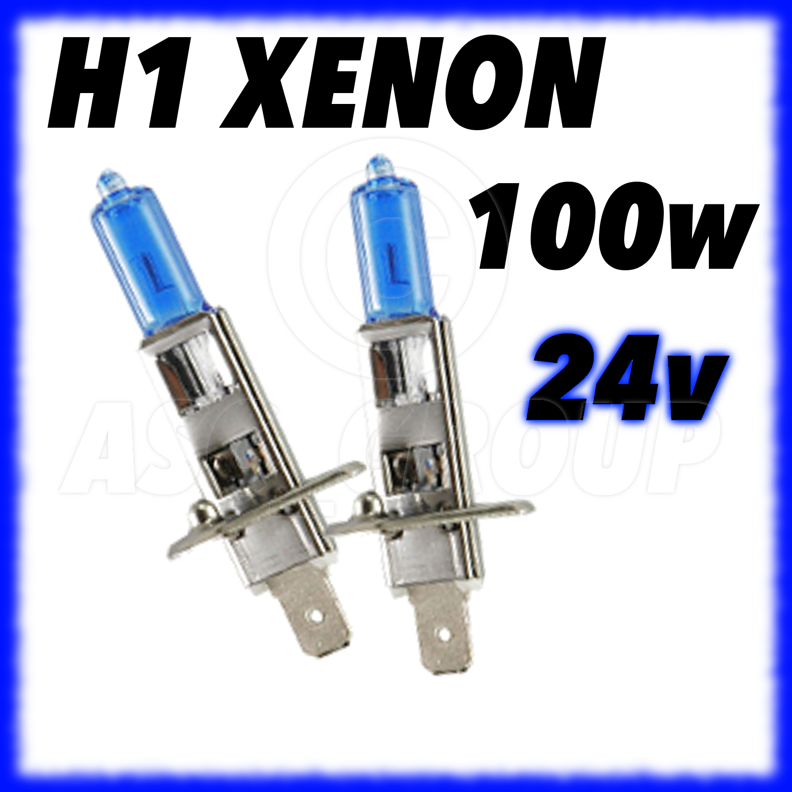 ampoules xenon h1 100w 24v mercedes ford daf ebay. Black Bedroom Furniture Sets. Home Design Ideas