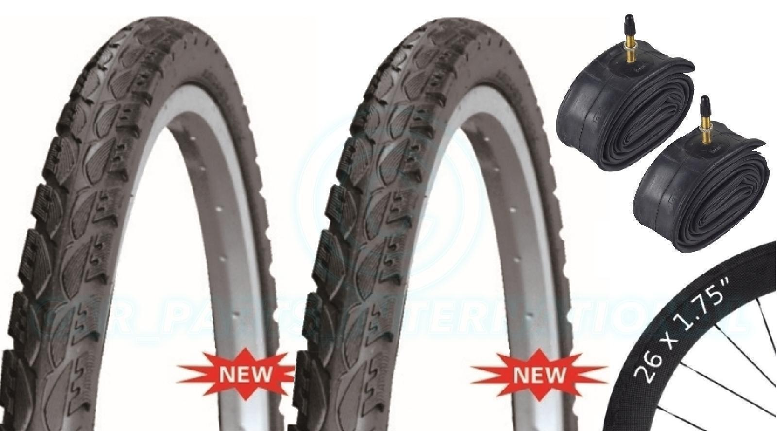 2 Bicycle Tyres Bike Tires - Road / Highway - 26 x 1.75 - With Presta Tubes