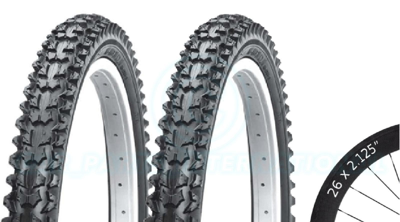 2 Bicycle Tyres Bike Tires - Mountain Bike - 26 x 2.125 - High Quality