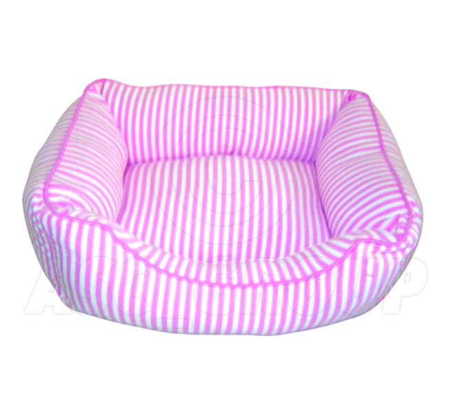 Soft Pet Bed Dog Cat Puppy Kitten - Pink and White Stripes - Various Sizes