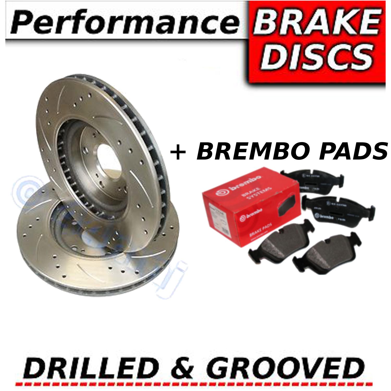 ford mondeo mk4 2 0 ffv 2007 drilled grooved front brake discs brembo pads ebay. Black Bedroom Furniture Sets. Home Design Ideas