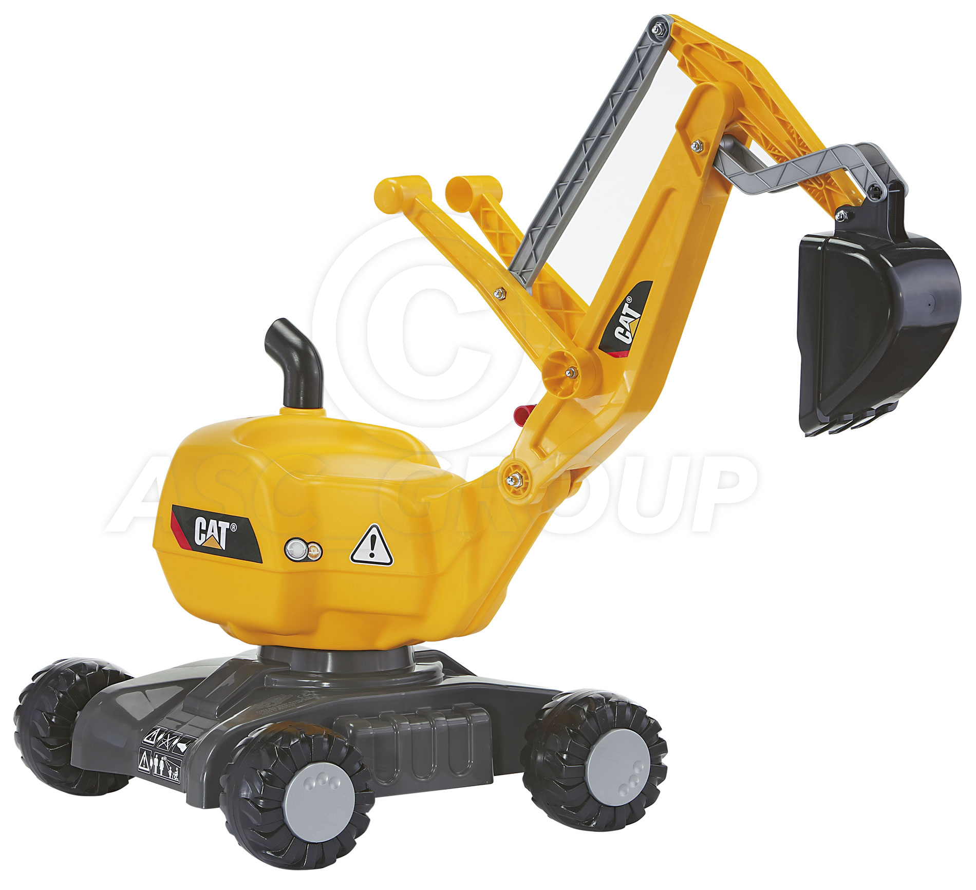 Rolly Toys Cat Ride On Digger Excavator On Wheels Sit