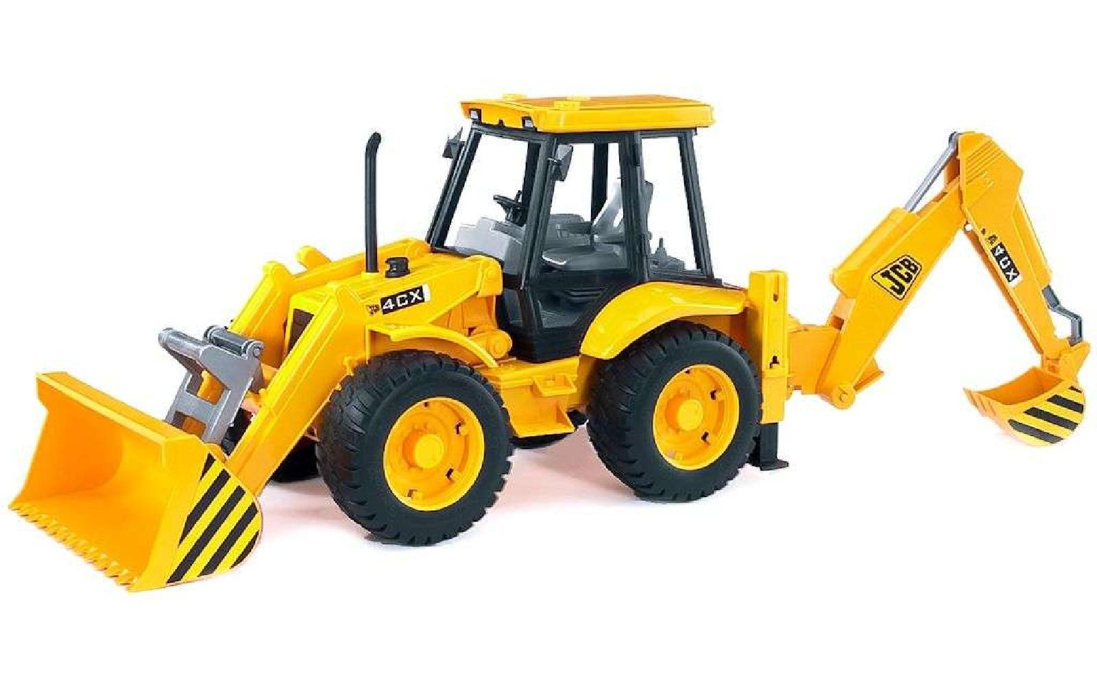 Bruder Toys 02428 Pro Series JCB 4CX C/W Loader & Backhoe ...