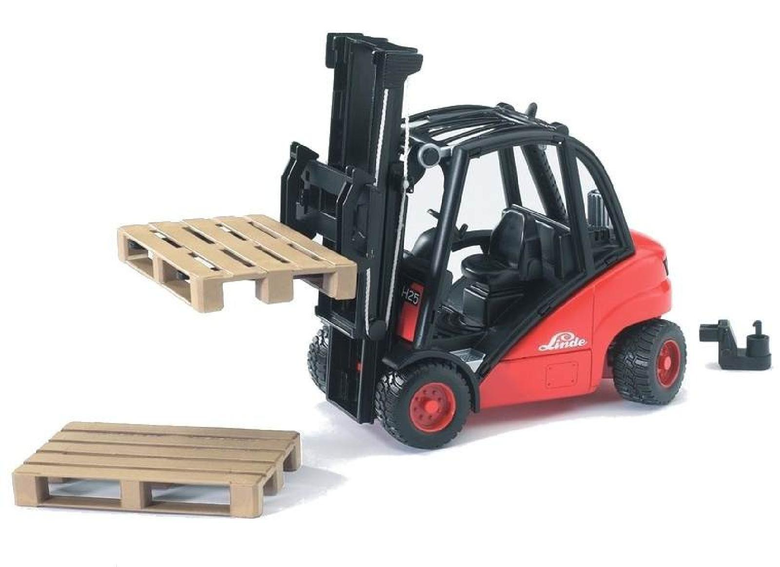 bruder toys 02511 pro series linde h30d forklift inc 2 pallets toy model 1 16 ebay. Black Bedroom Furniture Sets. Home Design Ideas