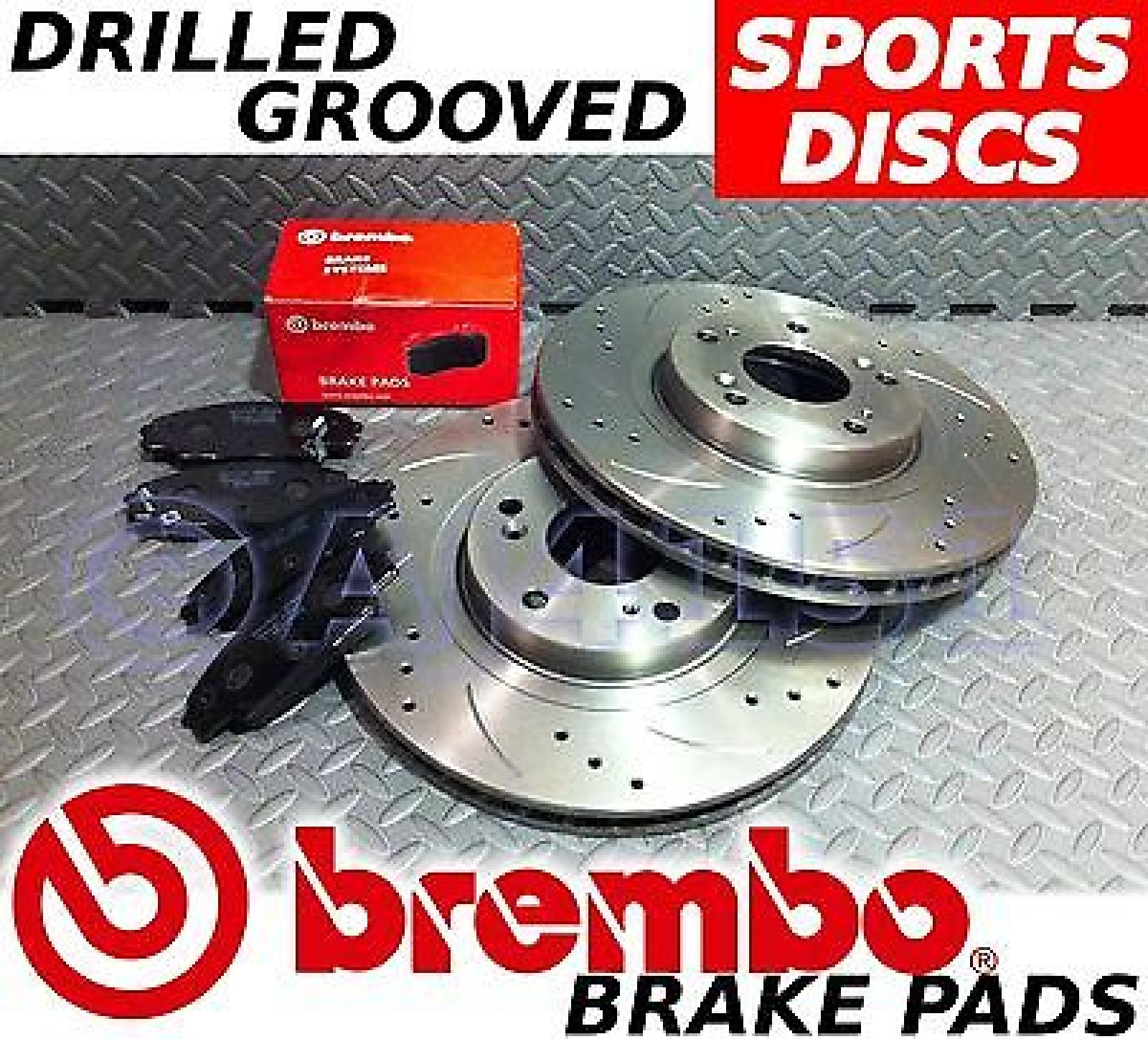 honda civic type r fn2 07 11 drilled grooved brake discs brembo pads front ebay. Black Bedroom Furniture Sets. Home Design Ideas