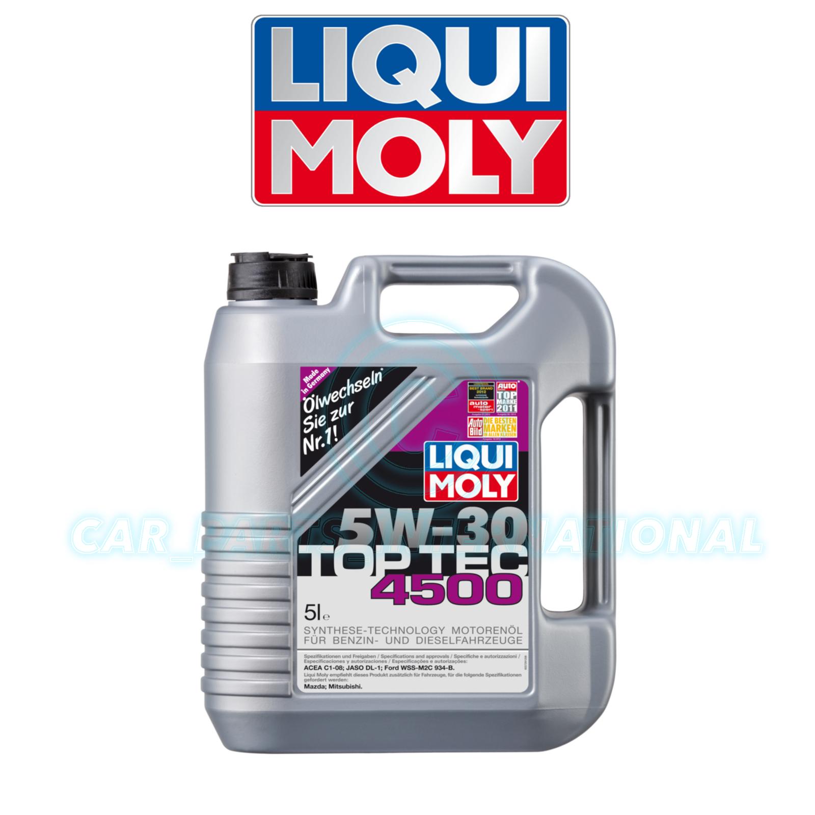 liqui moly top tec 4500 5w30 synthetic oil 5l ebay. Black Bedroom Furniture Sets. Home Design Ideas