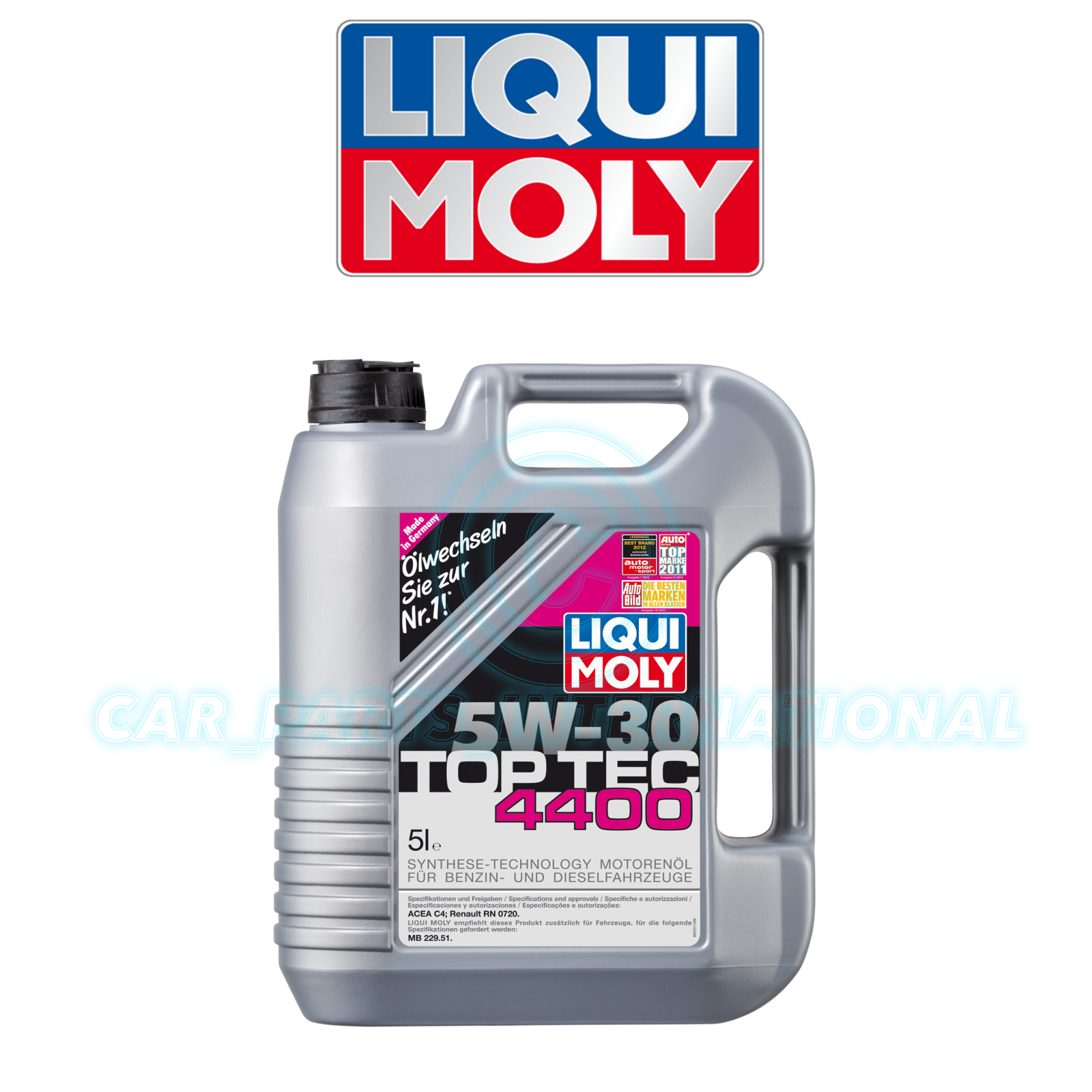 liqui moly top tec 4400 5w30 synthetic oil 5l ebay. Black Bedroom Furniture Sets. Home Design Ideas