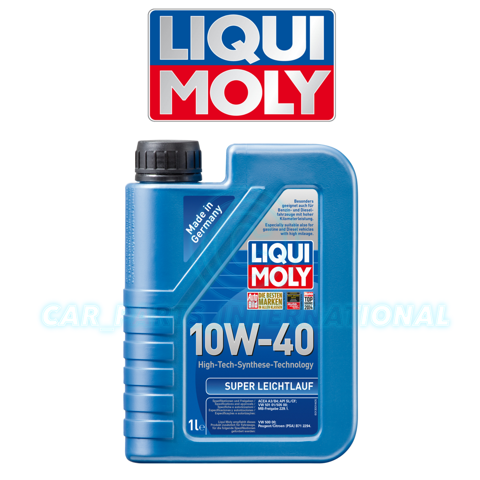 liqui moly super leichtlauf 10w40 engine oil 1l ebay. Black Bedroom Furniture Sets. Home Design Ideas
