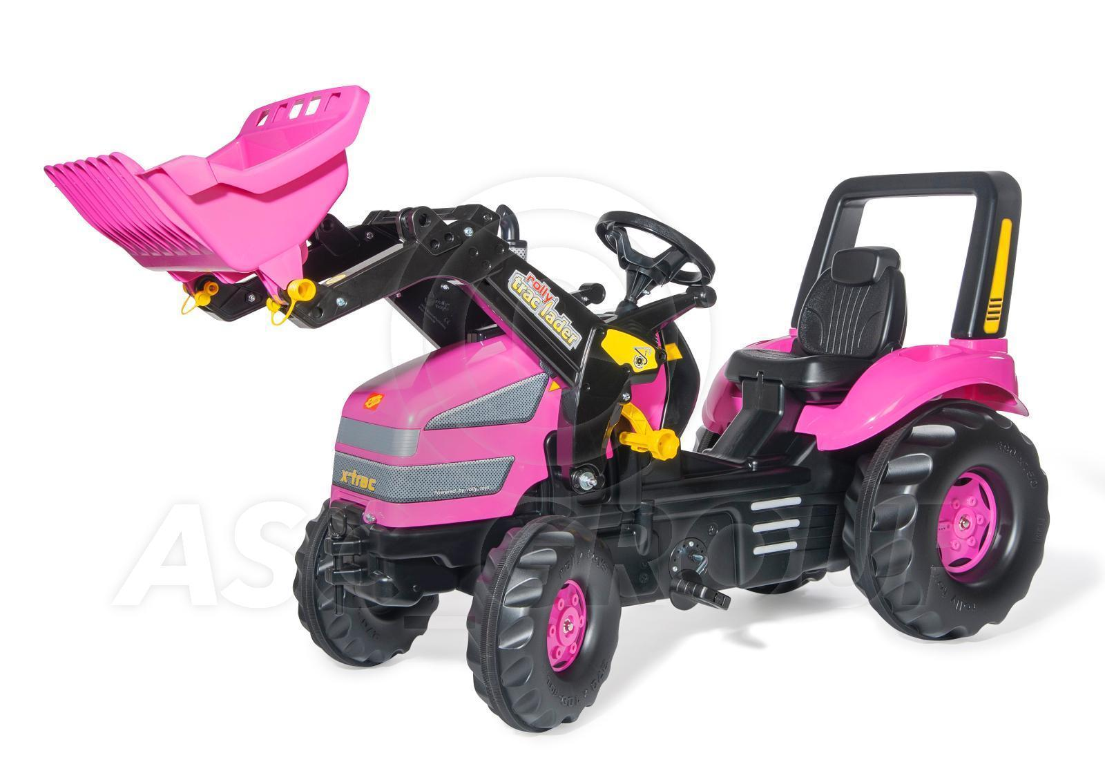 Metal Pedal Tractor Loader : Rolly toys pink girls trac xl ride on pedal tractor