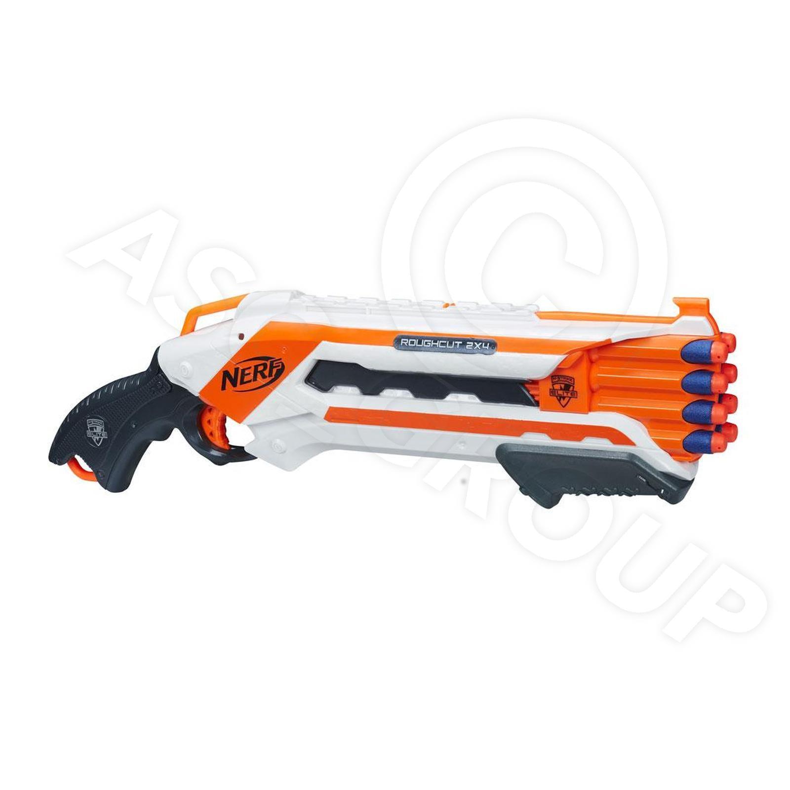 NERF N-STRIKE Elite Rohschnitt 2x4 Blaster / Shotgun & 8 Darts [ Artikel A1691 ]   eBay