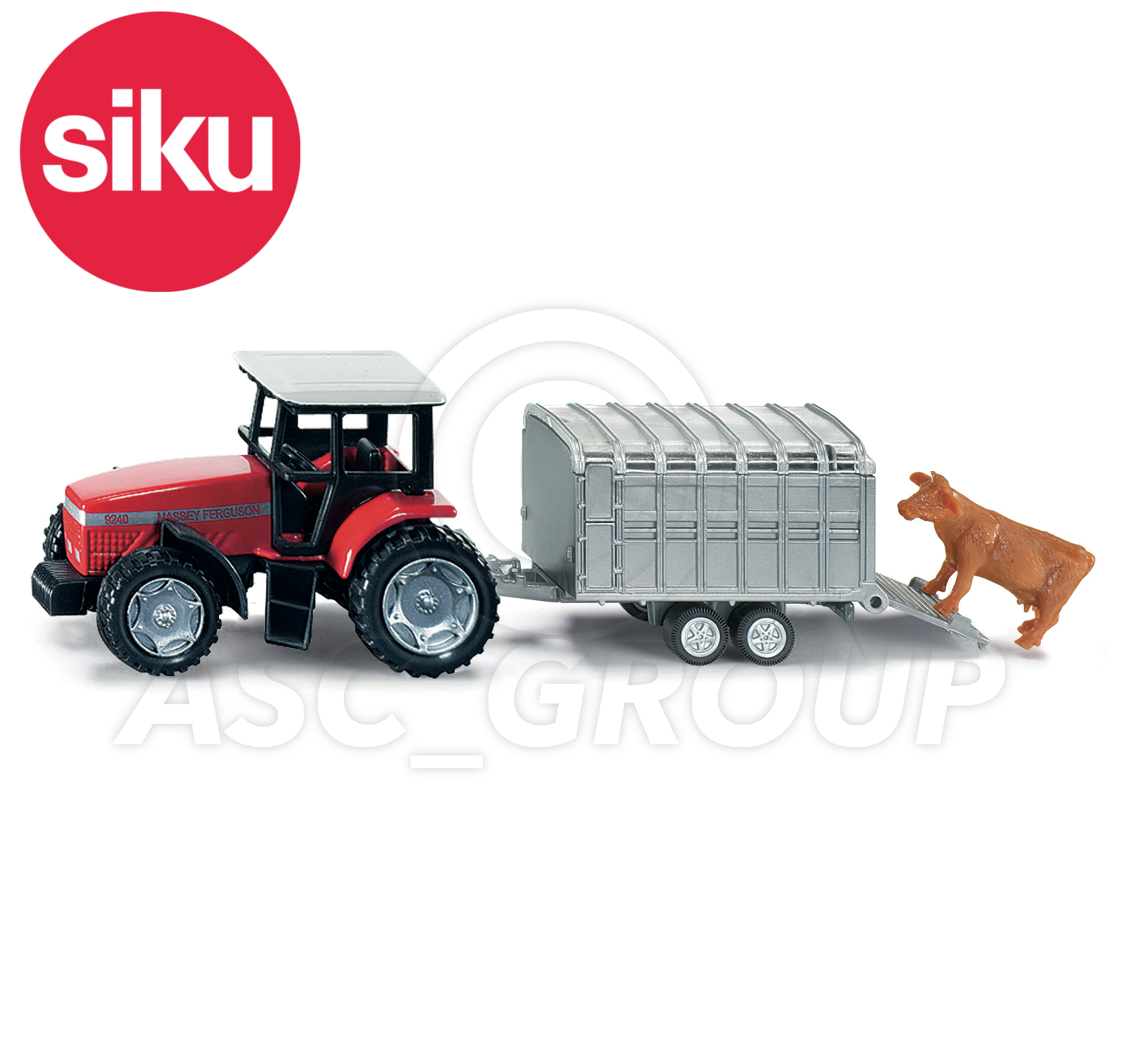 Tractor Trailer Stock : Siku no  scale tractor with livestock trailer