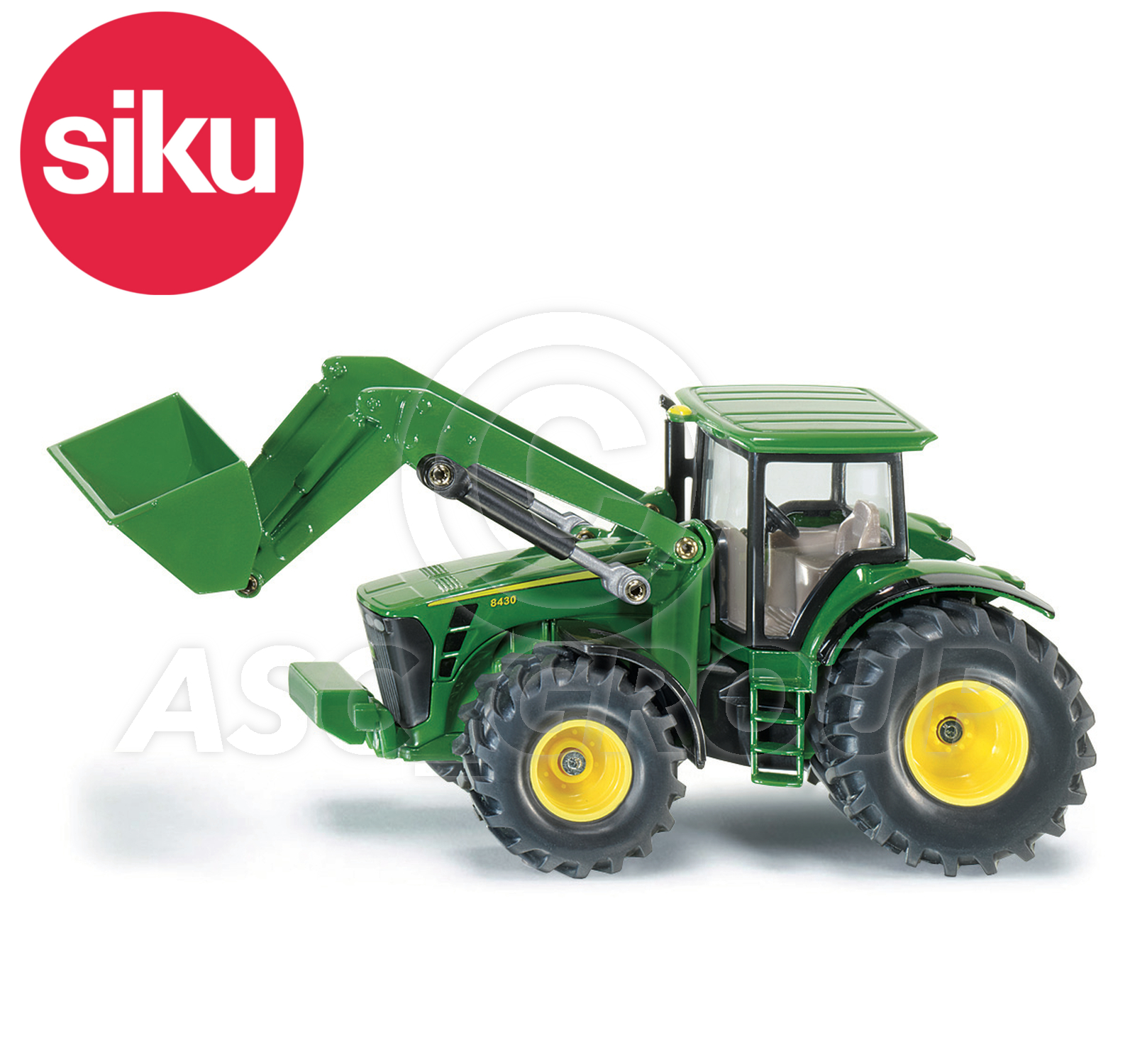 Siku no  scale john deere tractor with front