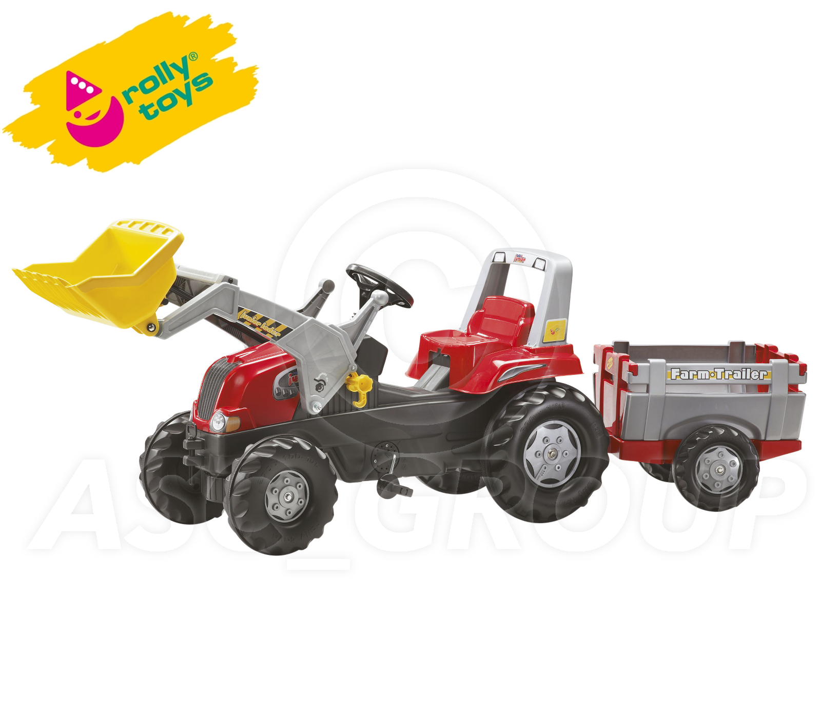 Junior Pedal Tractors Antique : Rolly toys junior red pedal tractor front loader and