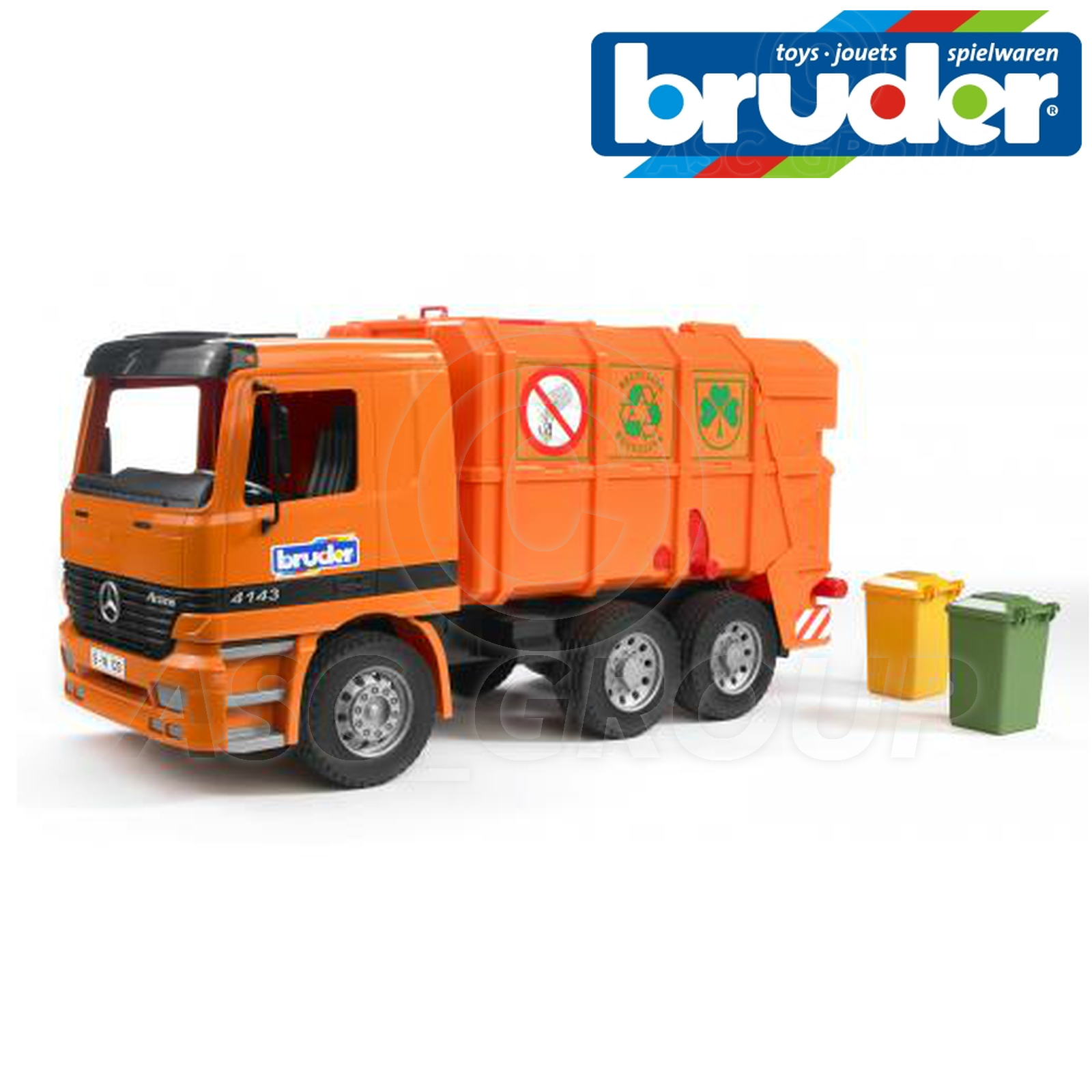 Bruder toys 01667 mercedes benz mb actros 4143 garbage for Mercedes benz truck toys
