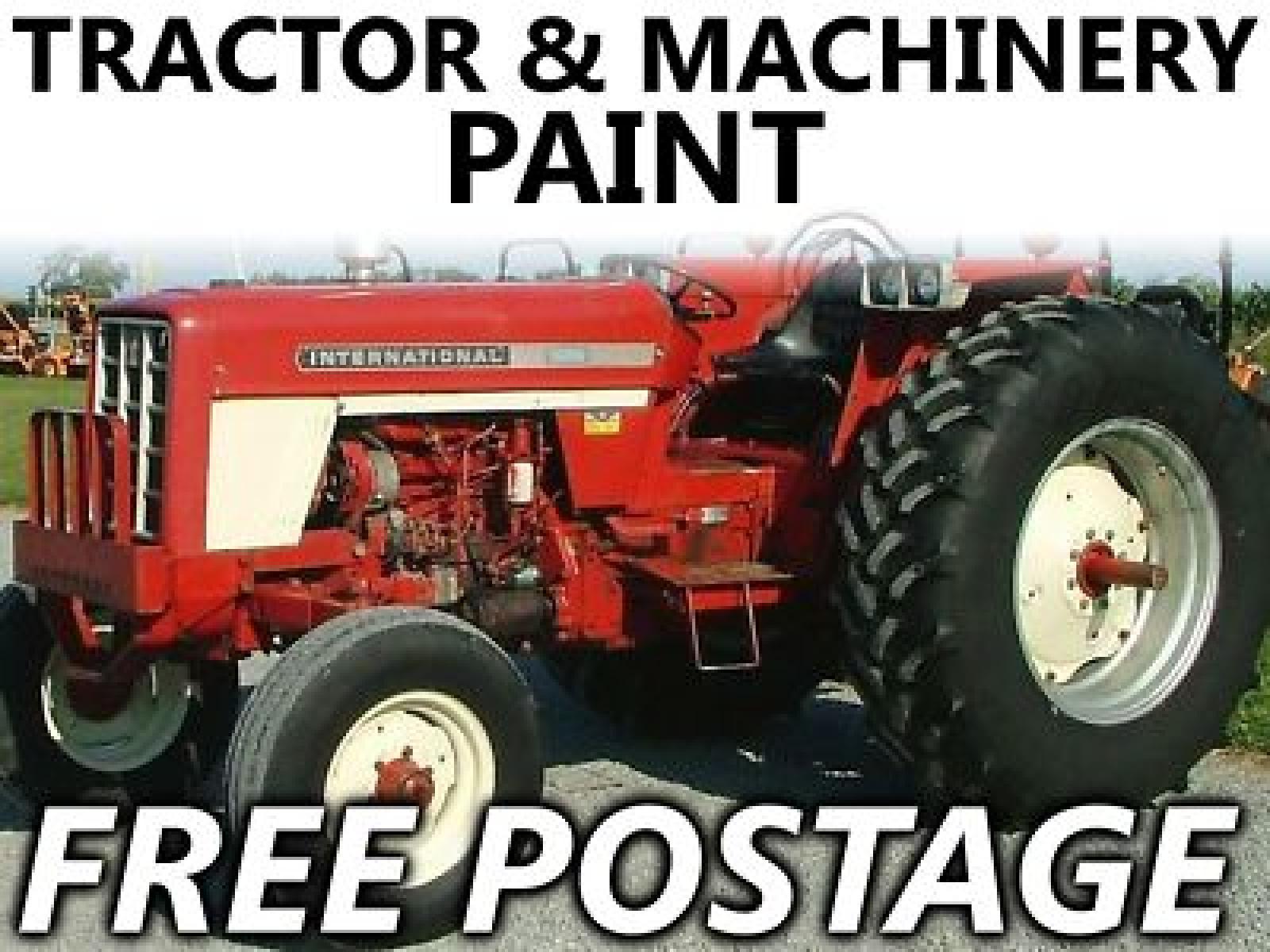 International Tractor Painting : Tractor agri enamel paint international harvester white ebay