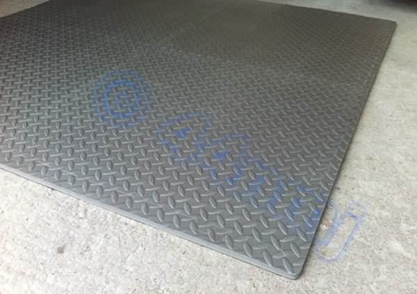 Mm garage workshop machine flooring mat tiles red blue grey