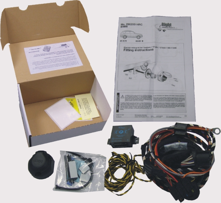 7pin Towbar Wiring Kit For Bmw X5 E70 Inc M Sport 2007