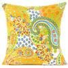 "Kantha Paisley Decorative Throw Pillow Cushion Cover - 16 X 16"""