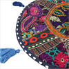 """Blue Round Decorative Floor Cushion Pillow Cover - 17"""""""