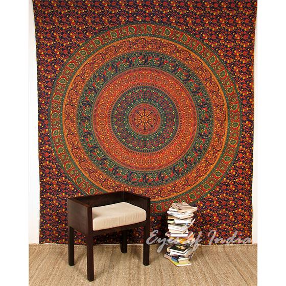 Grand tapis mural fleuri bleu roi chambre a coucher for Decor chambre coucher