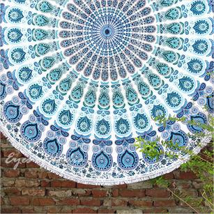 "Mandala Roundie Beach Picnic Spread Hippie Towel Tapestry - 80"""