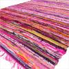 Pink Woven Chindi Rag Rug - 3.5 X 5.5'