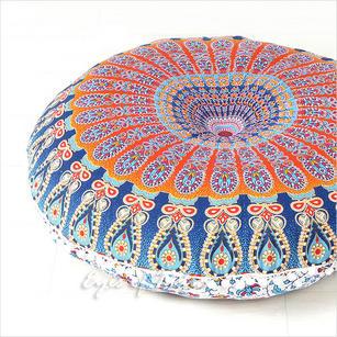 "Decorative Boho Floor Pillow Bohemian Cushion Cover  Hippie Mandala - 32"""