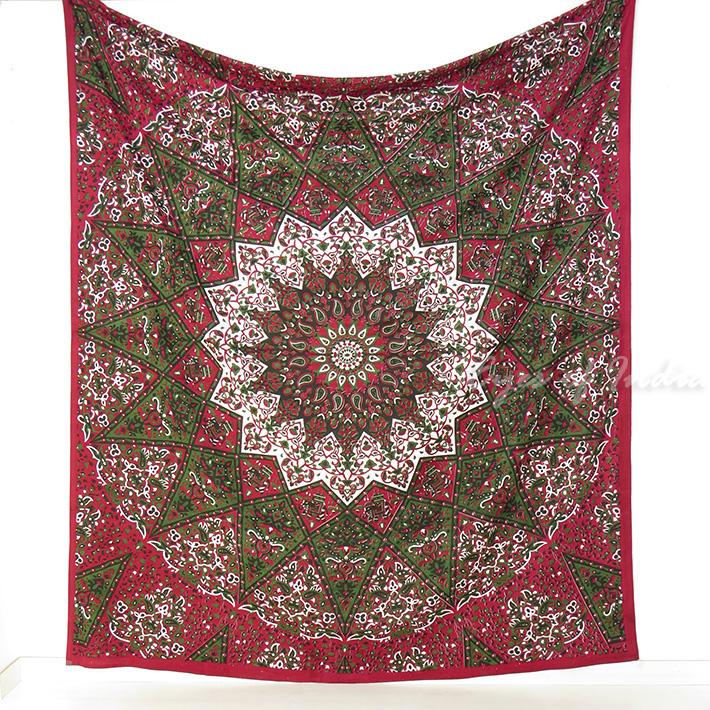 k nigin weinrot rot hippie boho bohemian indische mandala wandbehang tagesdecke ebay. Black Bedroom Furniture Sets. Home Design Ideas
