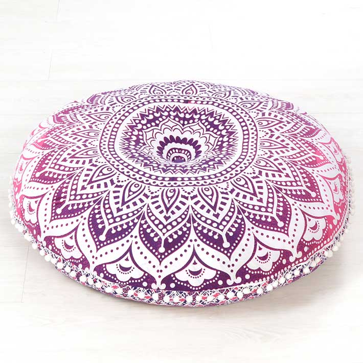 Hippie Floor Pillows : Pink Mandala Bohemian Hippie Floor Pillow Cushion Cover Mandala Throw- 32