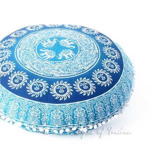 "Decorative Bohemian Boho Hippie Floor Pillow Cushion Cover Mandala Throw - 32"""