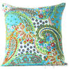 Kantha Paisley Decorative Throw Pillow Cushion Cover - 16 X 16""