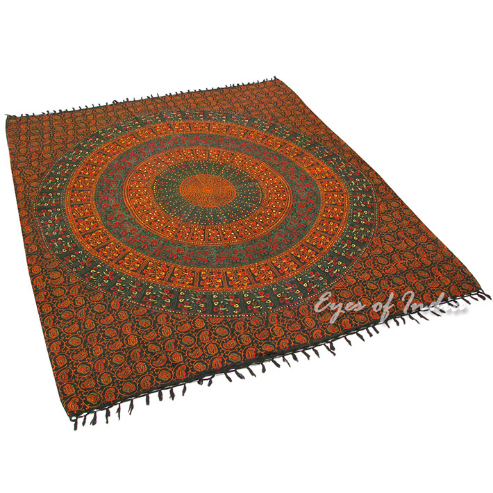 Details about indian floral bed sheet bedspread wall hanging hippy
