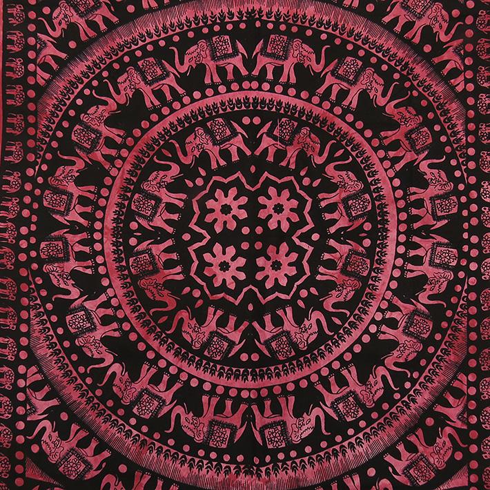einzelbett burgund rot elefant hippie mandala wandbehang. Black Bedroom Furniture Sets. Home Design Ideas