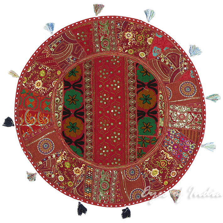 32 x large oversized round floor pillow cushion cover seating tapestry art ebay. Black Bedroom Furniture Sets. Home Design Ideas