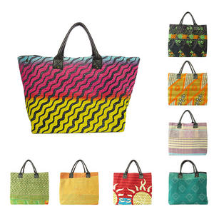 Oversized Womens Kantha Hobo Tote Shopping Bag