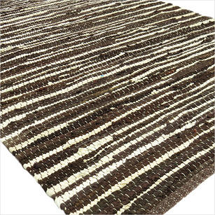 Brown Chindi Woven Area Rag Rug - 3 X 5'