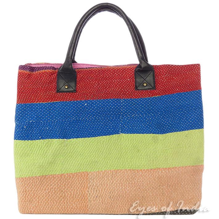 Oversized Kantha Tote Bag Beach Shopping Hobo Vintage Boho Bohemian Indian Extra