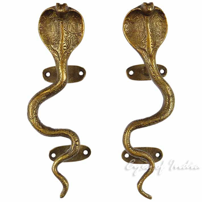 Brass Cobra Door Handles, Snake Door Handles | Decorative Handles ...