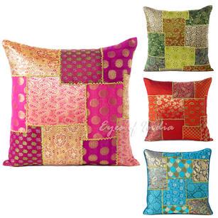 "Brocade Throw Pillow Cushion Cover - 16 X 16"""