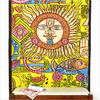 Yellow Tribal Wall Hanging Tapestry Bedspread - Queen/Twin