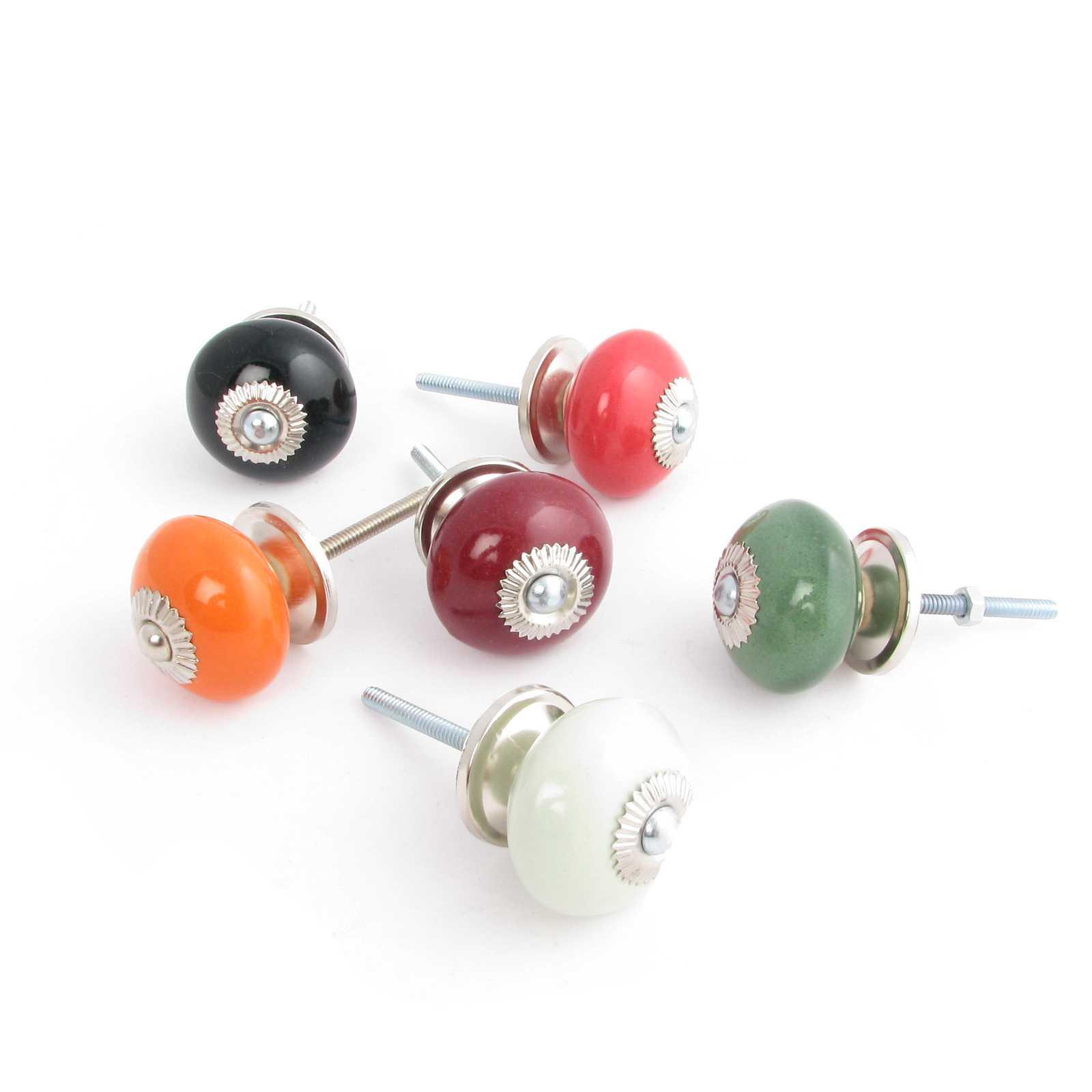 Ceramic door knobs painted decorative cabinet pulls Cabinet door knobs