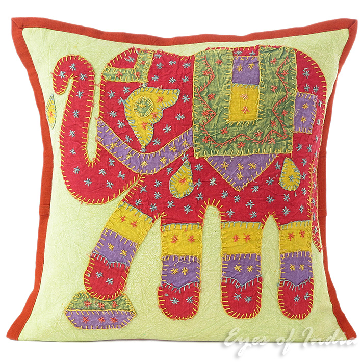 16 Red Elephant Decorative Couch Cushion Pillow Cover Bohemian Indian Decor Ebay